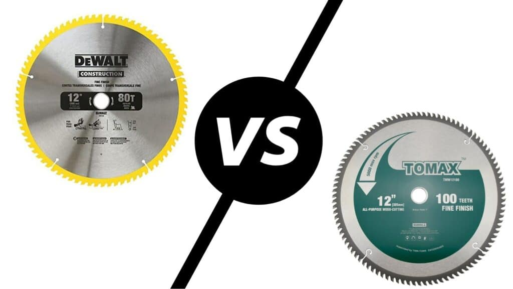 80 Vs 100 Tooth Miter Saw Blade